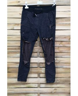 JEANS PANTS DESTROY 4023 BLACK