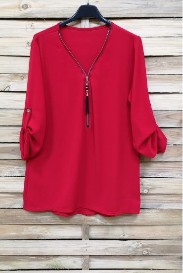 TOP ZIPPE 5103 ROUGE