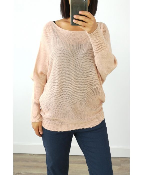 PULLOVER AUS WOLLE 3016 ROSA