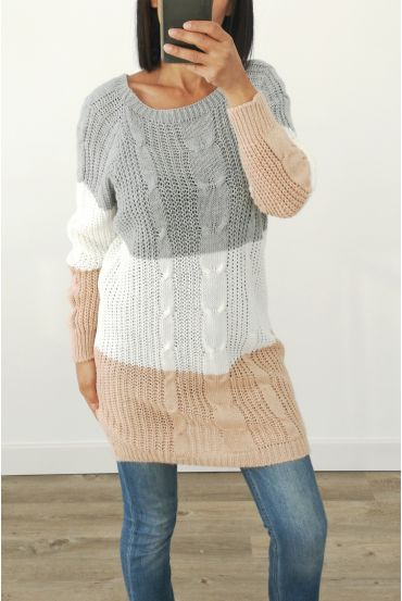 PULL THE LONG WOOL 3032 GREY