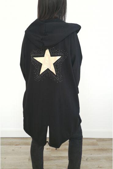 JACKET BACK STAR RHINESTONES 3031 BLACK