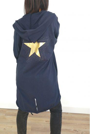 JACKET BACK STAR RHINESTONES 3031 NAVY BLUE