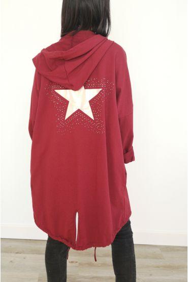 JACKET BACK STAR RHINESTONES 3031 BORDEAUX