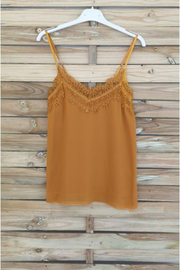 CAMISOLE LACE 3037 MUSTARD