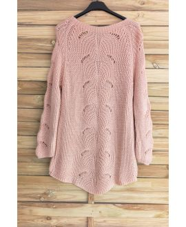 PULLOVER WOOL AJOURE 3015 PINK