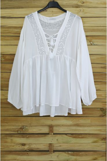 TUNIC OVERSIZE HAS SEQUINS 3045 WHITE