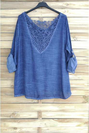 TOP BACK LACE 3048 NAVY BLAUW