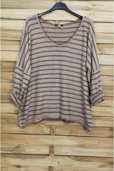 V NECK SWEATER 3087 TAUPE