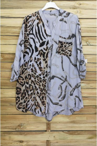 BLUSE MIX IRISE 3070 GRAU
