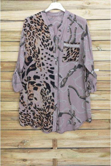 BLUSE MIX IRISE 3070 TAUPE