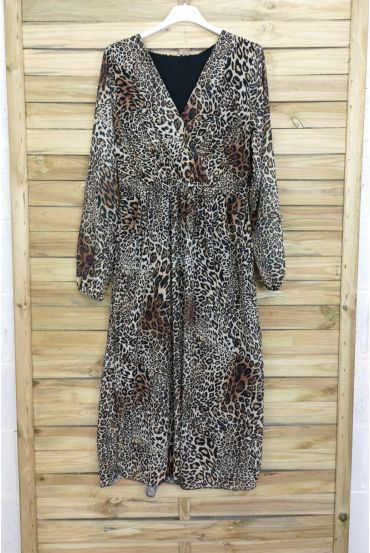 LONG DRESS 3067 LEOPARD LARGE