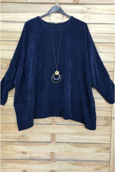LARGE EFFECT SIZE VELOUR + PADDED OFFERED 4019 NAVY BLUE