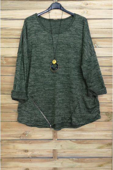 LARGE SIZE SWEATER ZIPS + PADDED OFFERED 4018 MILITARY GREEN