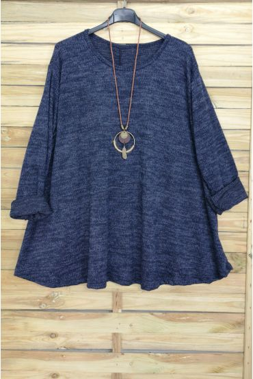 LARGE SIZE PULL EVASE + NECKLACE OFFERED 4016 NAVY BLUE