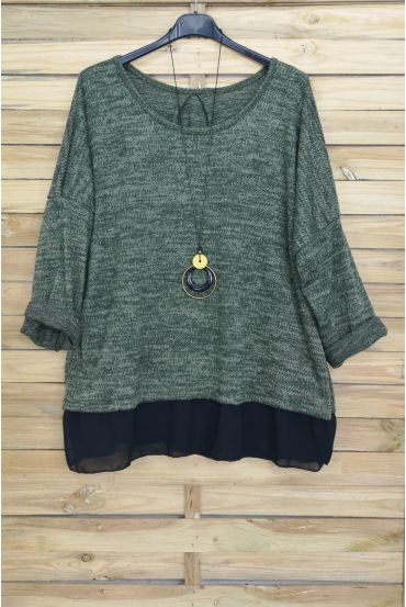 LARGE SIZE PULL-BASED CLOAKING + NECKLACE OFFERED 4012 MILITARY GREEN