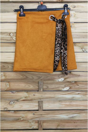 LOT 3 SKIRTS SUEDE EFFECT WALLET S-M-L 4027 MUSTARD