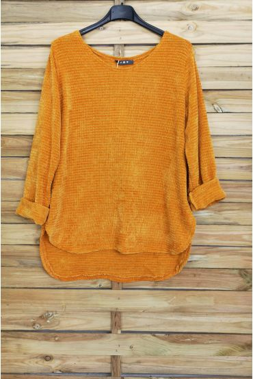 PULLOVER VELOURS 4005 MOSTERD