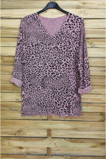 PULL THE END IRIDESCENT LEOPARD 4031 PINK