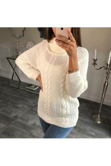PULL COL ROULE TWISTS 4076 WHITE
