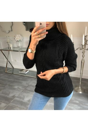 PULL COL ROULE TWISTS 4076 BLACK