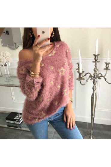 SWEATER STAR SEQUIN SOFT 4050 ROSE