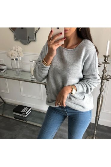 PULLOVER 2 POCHES 3062 GRIS