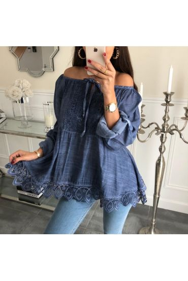 TUNIC LACE 3046 NAVY BLUE