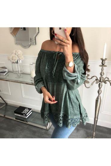 TUNIC LACE 3046 MILITARY GREEN