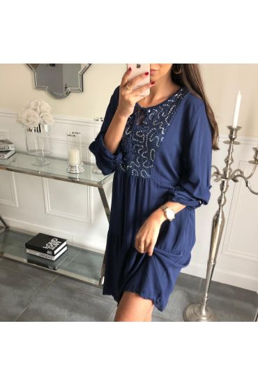 DRESS PAILLETEE 3081 NAVY BLUE