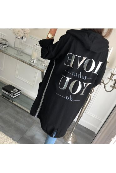 VEST LONG LOVE WHAT YOU DO-5008 BLACK