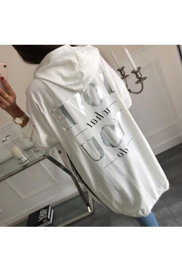 VEST LONG LOVE WHAT YOU DO 5008 WHITE