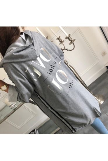 VEST LONG LOVE WHAT YOU DO 5008 GREY