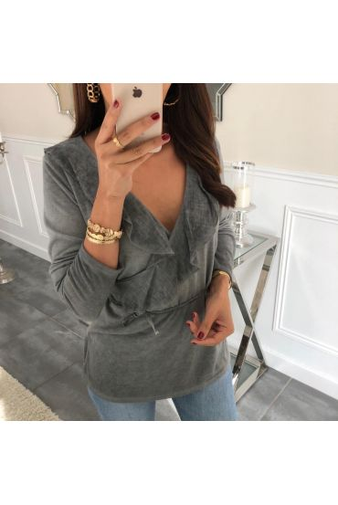 PULL CACHE COEUR 3059 LIGHT GREY