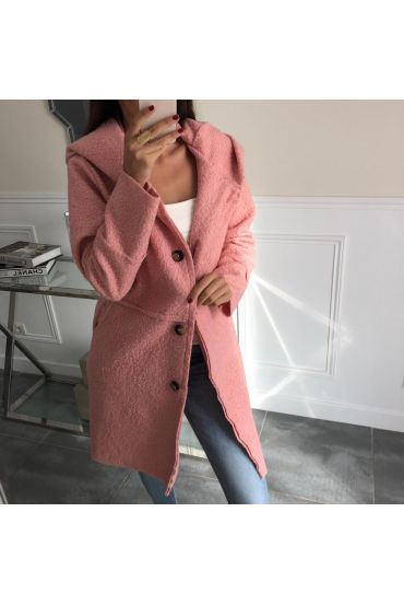 MANTEAU 2 POCHES A BOUTONS 4066 ROSE