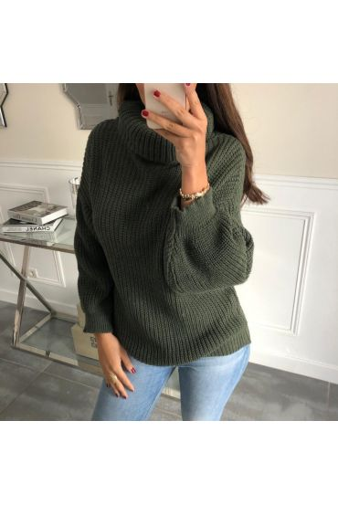 PULLOVER OVERSIZE MOHAIR 5003 MILITARY GREEN