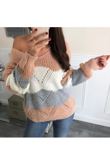 PULLOVER AJOURE 3065 ROSE