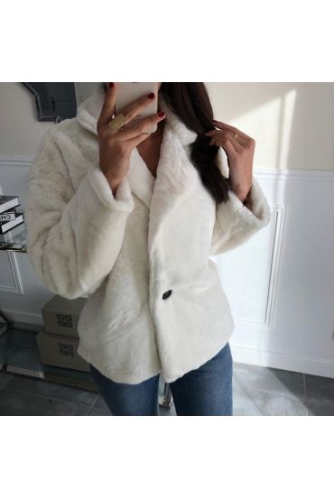 COAT FUR SYNTHETIC 5033 WHITE