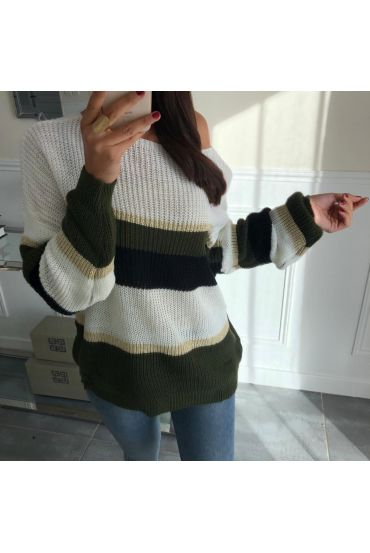 PULLOVER COLORS 5032 GREEN BLACK