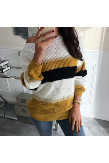 PULLOVER COLORS 5032 MUSTARD BLACK