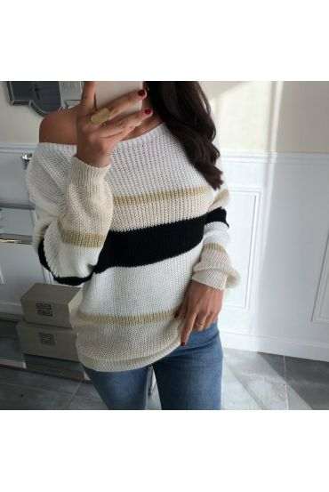 PULLOVER COLORS 5032 BEIGE BLACK