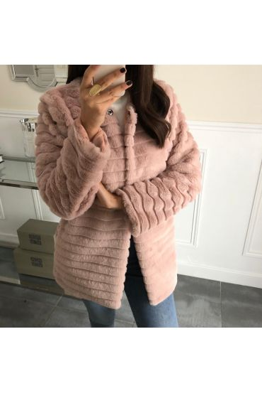 COAT FUR SYNTHETIC 5037 PINK