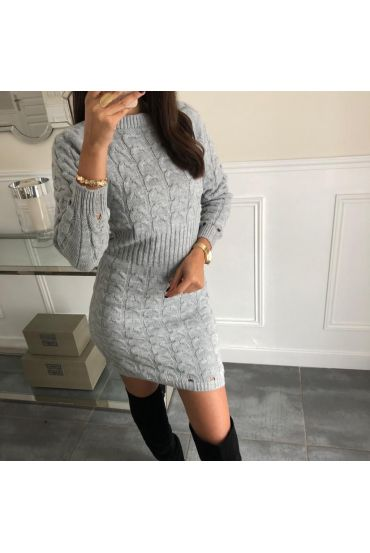 WOOL DRESS 5041 GRAY