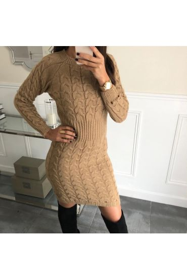 WOOL DRESS 5041 CAMEL