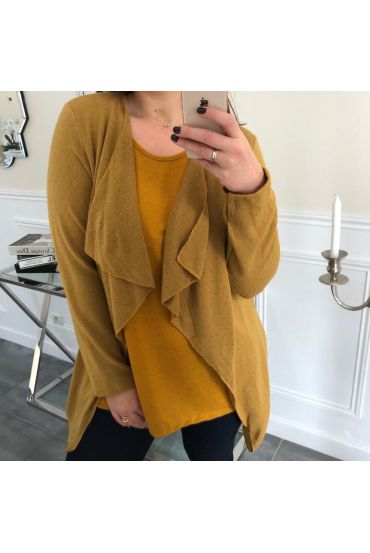 LARGE SIZE VEST 2 IN 1 GLOSS 4091 MUSTARD