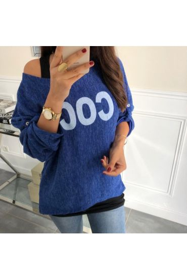 PULL 2 PIECES COCONUT-5050 ROYAL BLUE