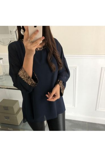 TOP SEQUINED DETAIL 5069 NAVY BLUE
