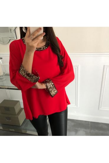TOP DETAIL PAILLETTES 5069 ROUGE
