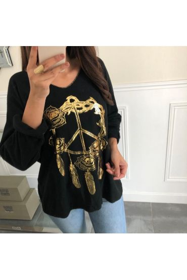 PULL PEACE AND LOVE 4059 BLACK