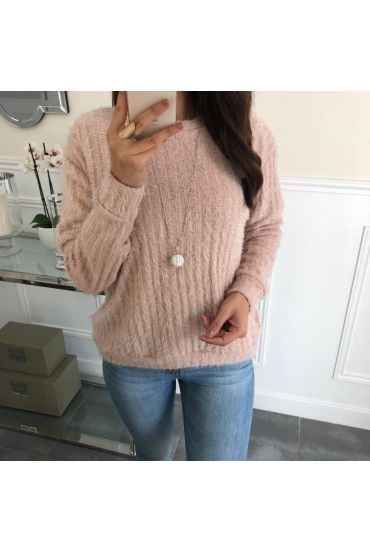 SWEATER HAS SOFT BRISTLES + NECKLACE OFFERED 5078 RED