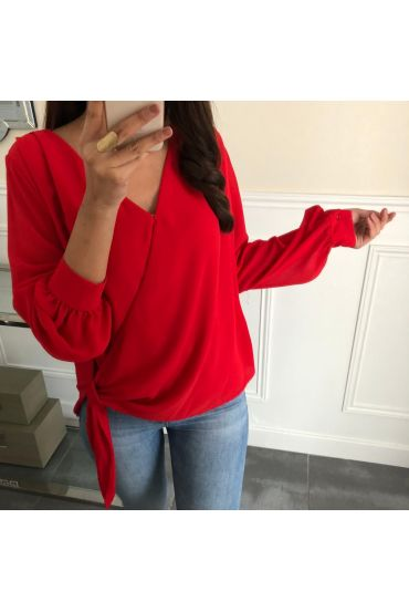 TOP DRAPES A TIE 5064 RED